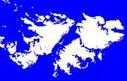 Mapa simbólico de las Malvinas