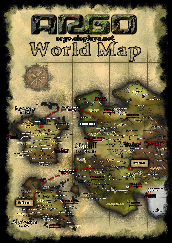 ARGO Online Open Beta World Map