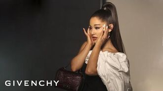Behind ARIVENCHY Campaign starring Ariana Grande