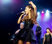 Ariana performing during TLS