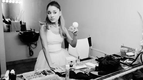 Behind the scenes of the Ari by Ariana Grande fragrance commercial