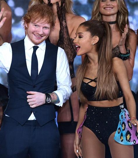 Resultado de imagen de Ed Sheeran & Ariana Grande