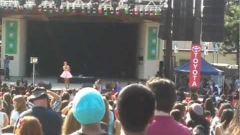 "Ariana Grande at Fresno Fair - ""Listen"" cover by Beyonce & ""Youre My Only Shawty"" 10 13 12"