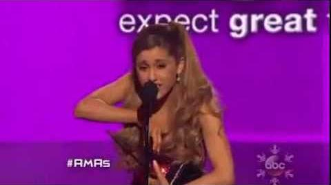 American Music Awards 2013 Ariana Grande's Epic Acceptance Speech