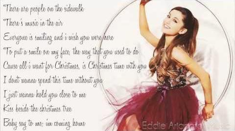 Ariana Grande - I Don't Want To Be Alone For Christmas (Lyrics)