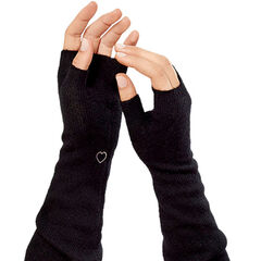 Free fuzzy arm warmers