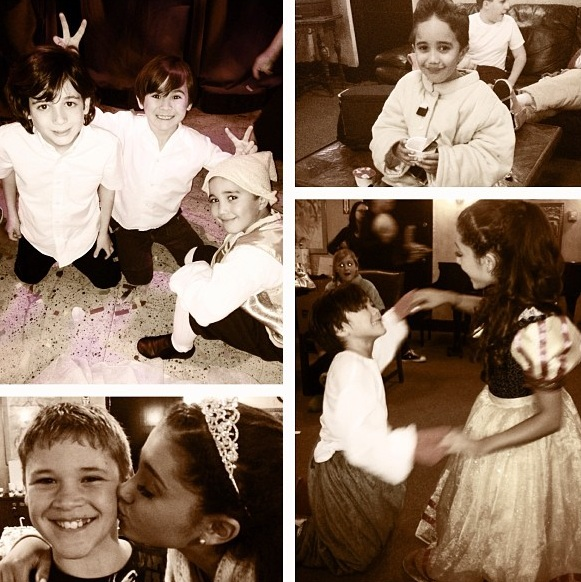 ariana with some of her cast from a snow white christmasjpg - Cast Of White Christmas