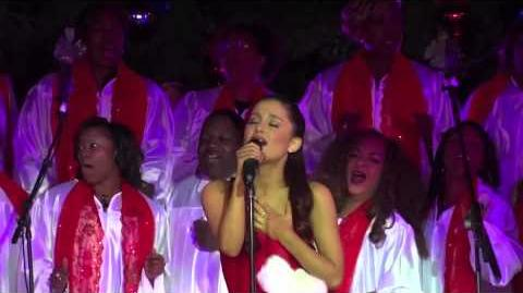 Ariana Grande singing All I Want For Christmas Is You at the Citadel Tree Lighting