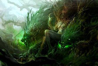 640x429 828 A Dark Queen 2d fantasy magic wizard girl female woman picture image digital art