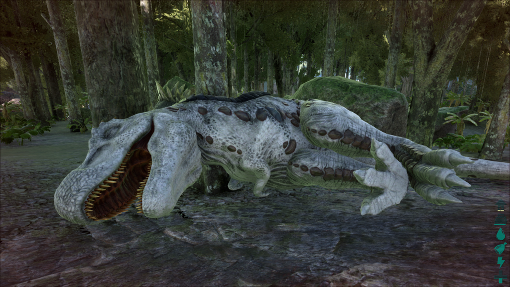 image white t rex unconcious png ark survival evolved wiki