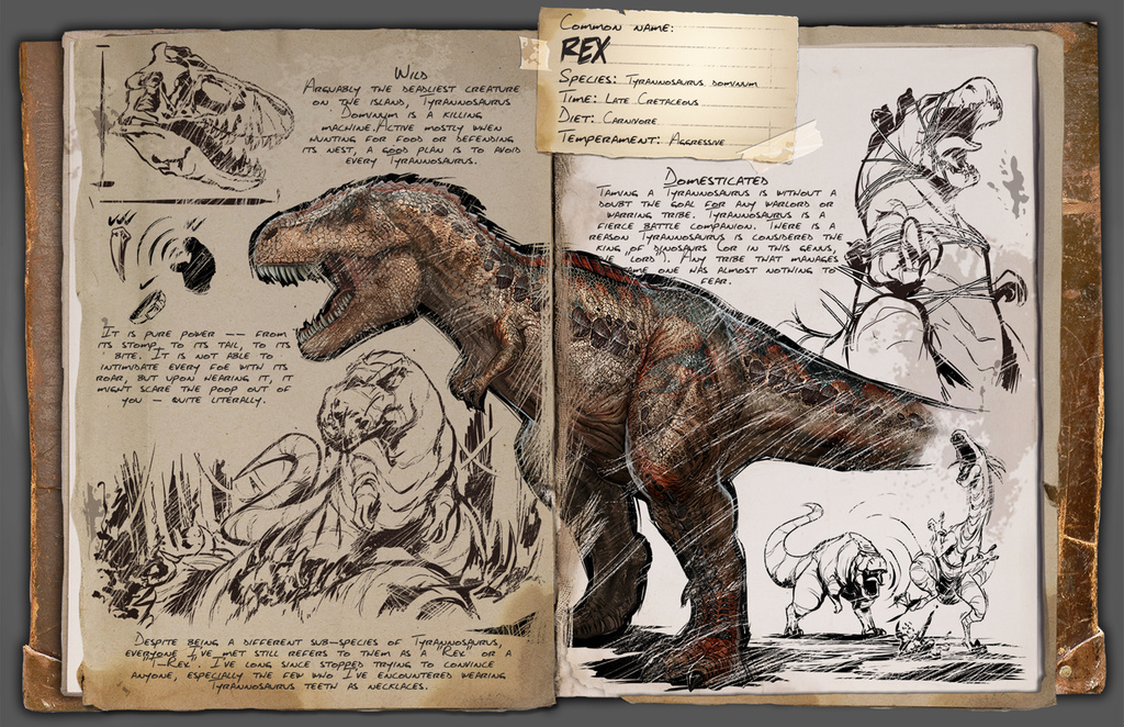 Tyrannosaurus Rex Ark Survival Evolved Wiki Fandom Powered By Wikia