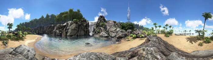 Northen Shore Waterfall Panorama