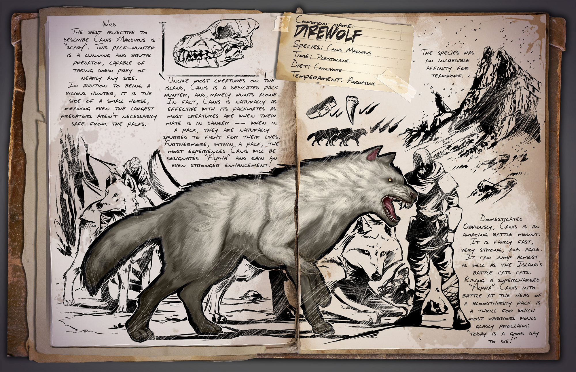 Direwolf | ARK: Survival Evolved Wiki | FANDOM powered by Wikia
