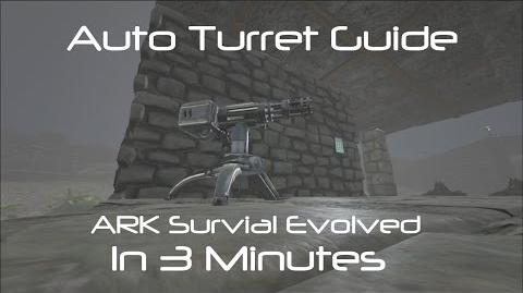 Auto Turret Range Projectile Demo ARK Survival Evolved