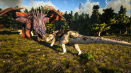 ARK-Dragon and Tyrannosaurus Screenshot 001