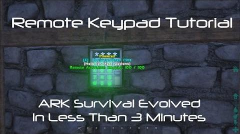 Remote Keypad Tutorial ARK Survival Evolved