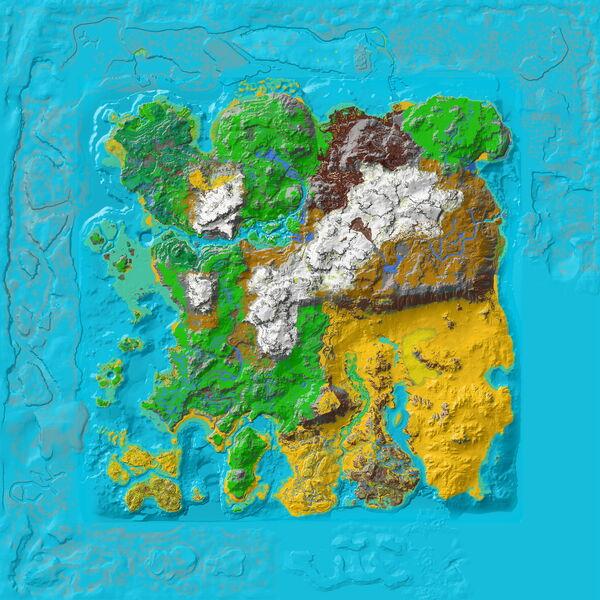 Ragnarok Ocean Topographic Map