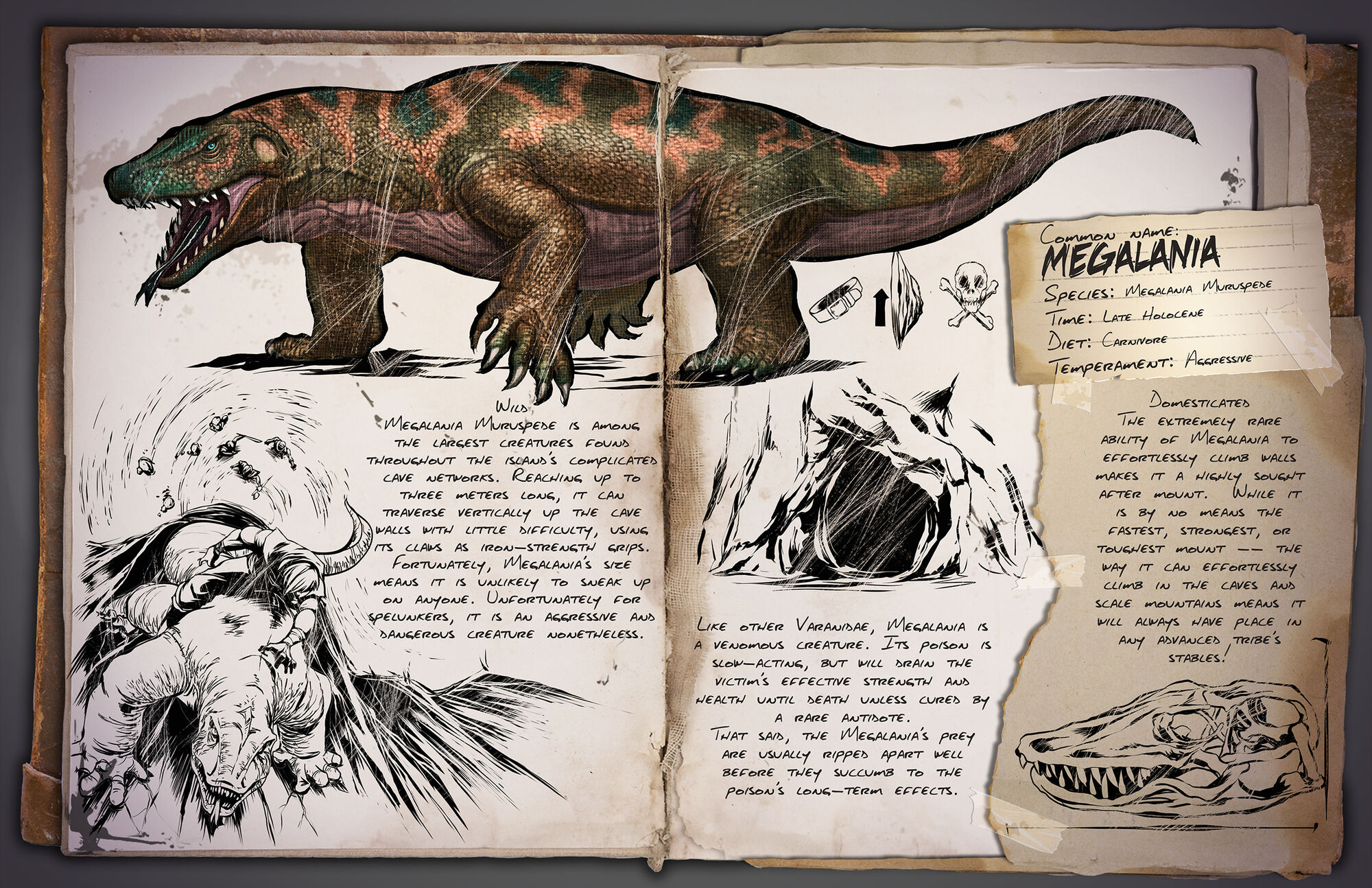 Megalania | ARK: Survival Evolved Wiki | FANDOM powered by Wikia