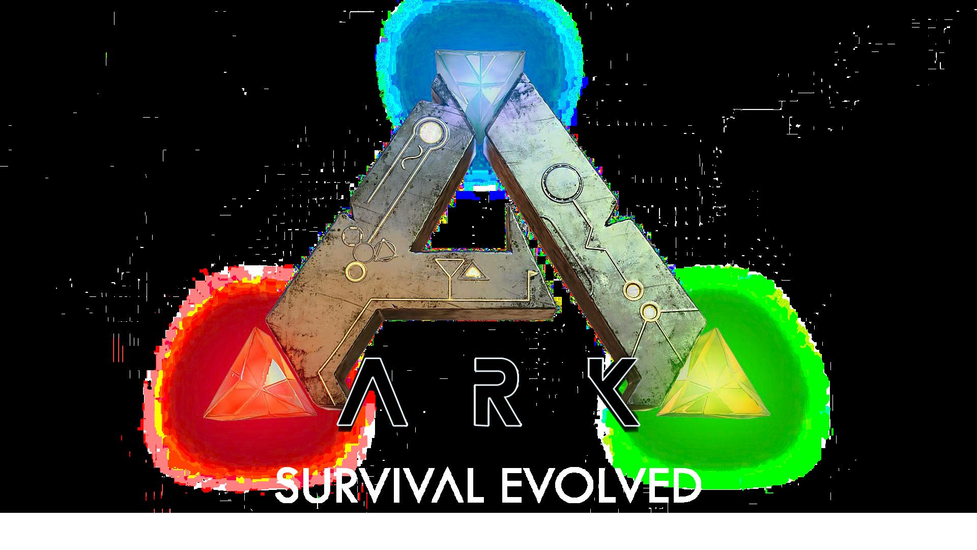 Ark Survival Evolved Wallpaper Logo Fond Blanc