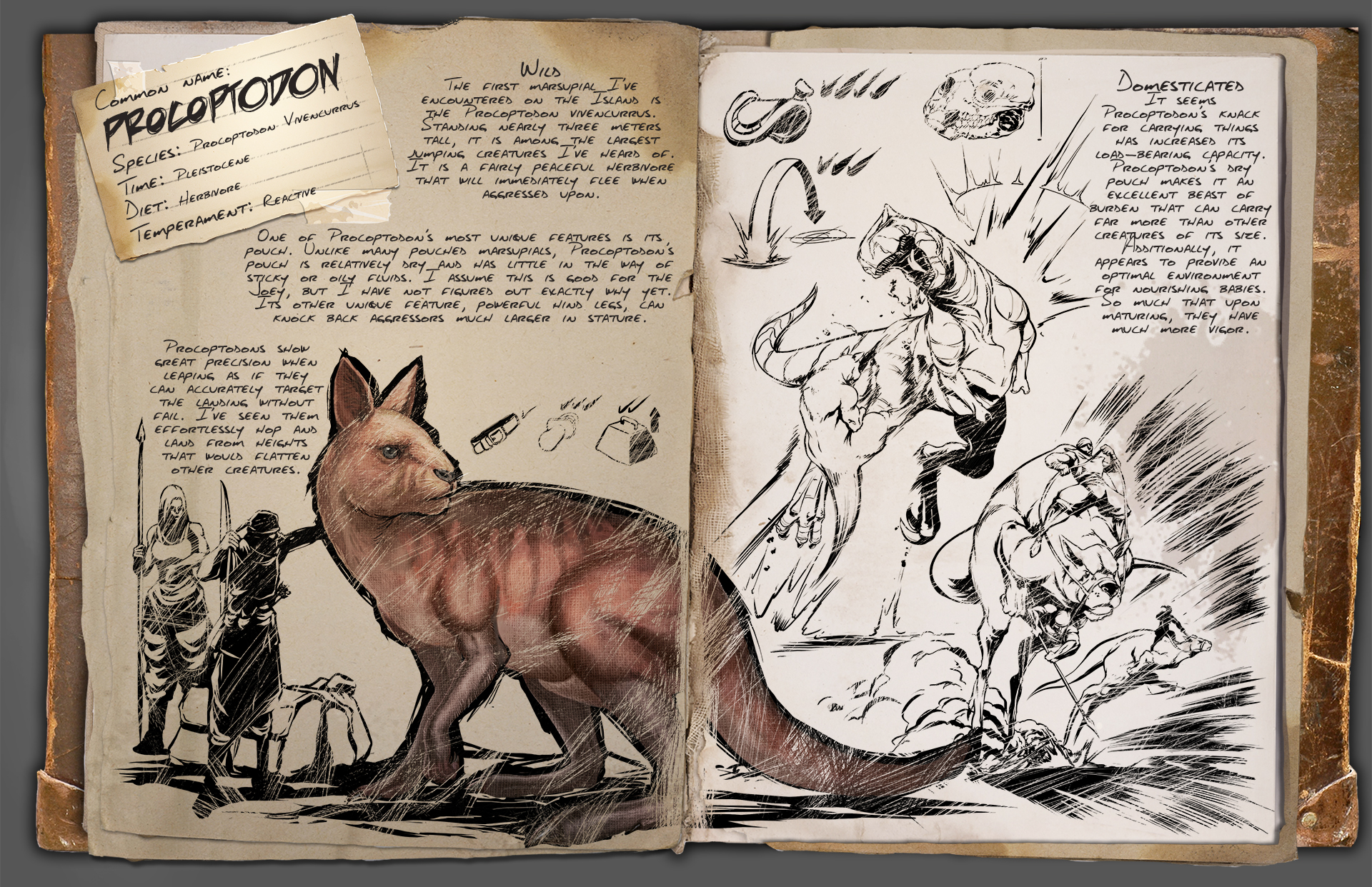 Procoptodon Ark Survival Evolved Wiki Fandom Powered By Wikia
