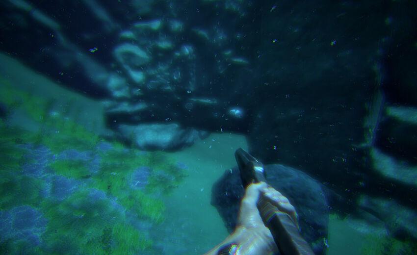 Подводная пещера Вход