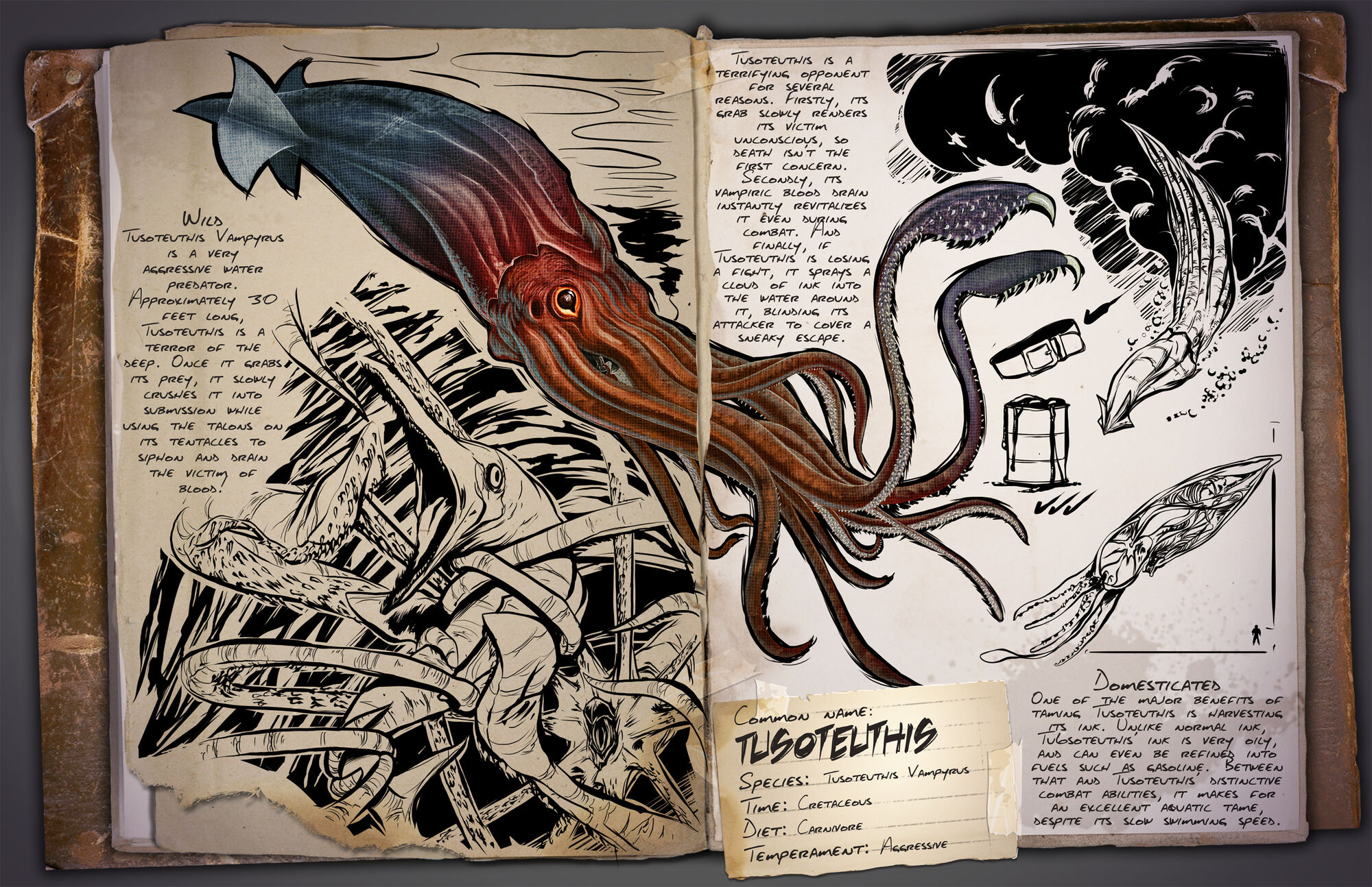 Tusoteuthis | ARK: Survival Evolved Wiki | FANDOM powered by Wikia