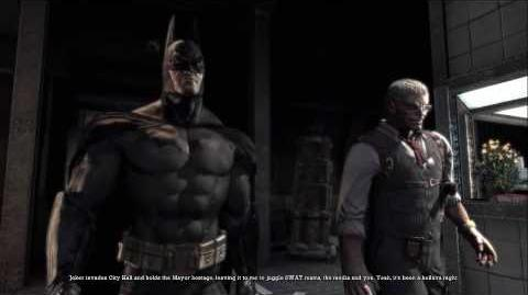 First cutscene in Batman Arkham Asylum
