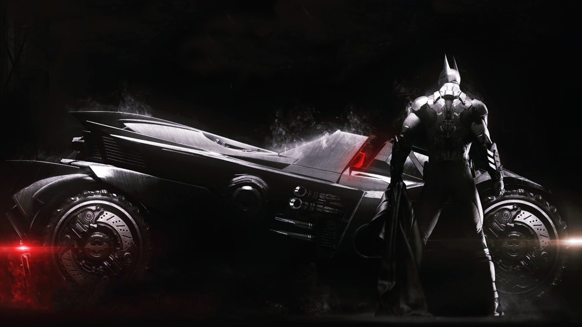Batman Arkham Knight Wallpaper With Batmobile
