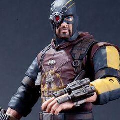 Action-figure do Pistoleiro de <i>Arkham City</i>.
