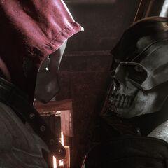 O Capuz Vermelho capturando Máscara Negra.