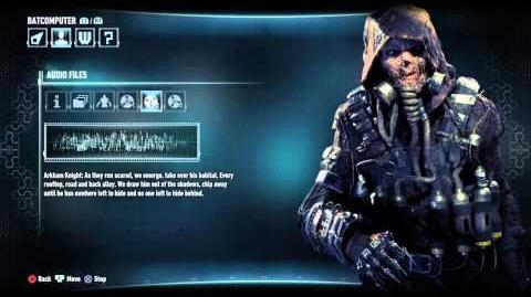 Batman - Arkham Knight - Scarecrow Audio Tapes