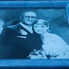 Foto do casamento de Victor e Nora Fries.