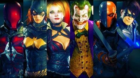 BATMAN ARKHAM KNIGHT EVERY VILLAIN & HERO (ALL CHARACTER BIOS) HD