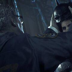 Gordon desmascarando Batman.