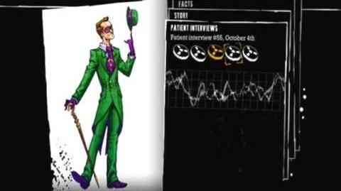 Batman Arkham Asylum - Patient Interview Tapes - The Riddler