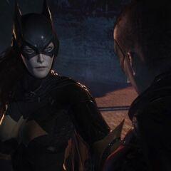 Batgirl e Robin.