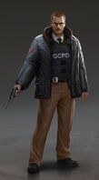 Arkham Origins Lt Gorden Concept Art