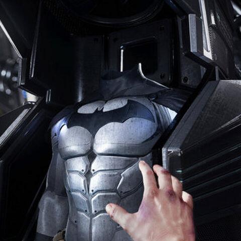 Bruce prestes a vestir o <a class=