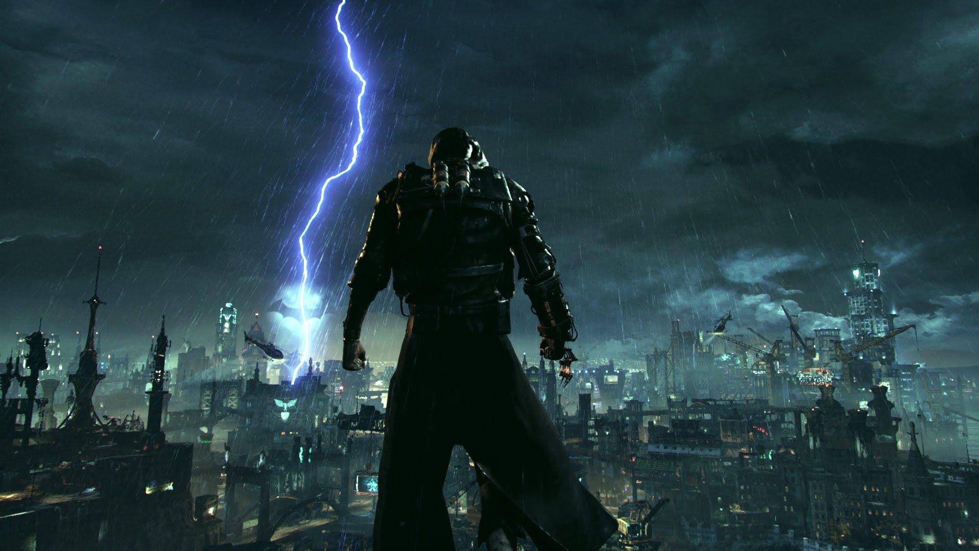 Epouvantail Batman Arkham Knight Pluie Gotham City