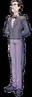 Alfred Pennyworth Portrait Arkham Asylum