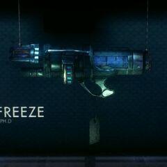A arma criogênica de Frio no <a class=