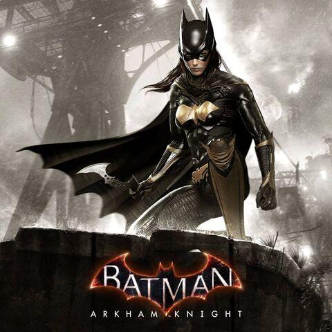 Batgirl em um pôster promocional de <i><a class=