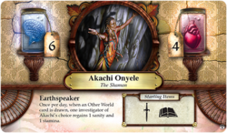 Akachi Onyele ~ Elder Sign - Gates of Arkham