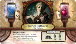 Patrice Hathaway ~ Elder Sign - Gates of Arkham