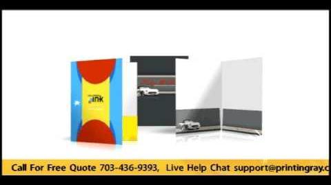 Online Cheap Custom Pocket Folder Printing
