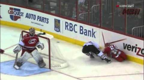 Daniel Carcillo Hit From Behind On Joni Pitkanen - 28 10 2011