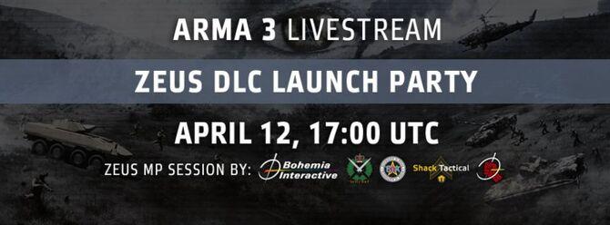 ArmA 3 DLC Zeus Launch Party