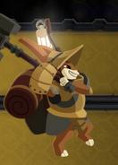 Barnaby battle pose