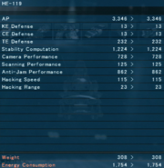 6 - HE-119 Stats