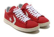 Max Stuart III's Red & White Canvas Shoes